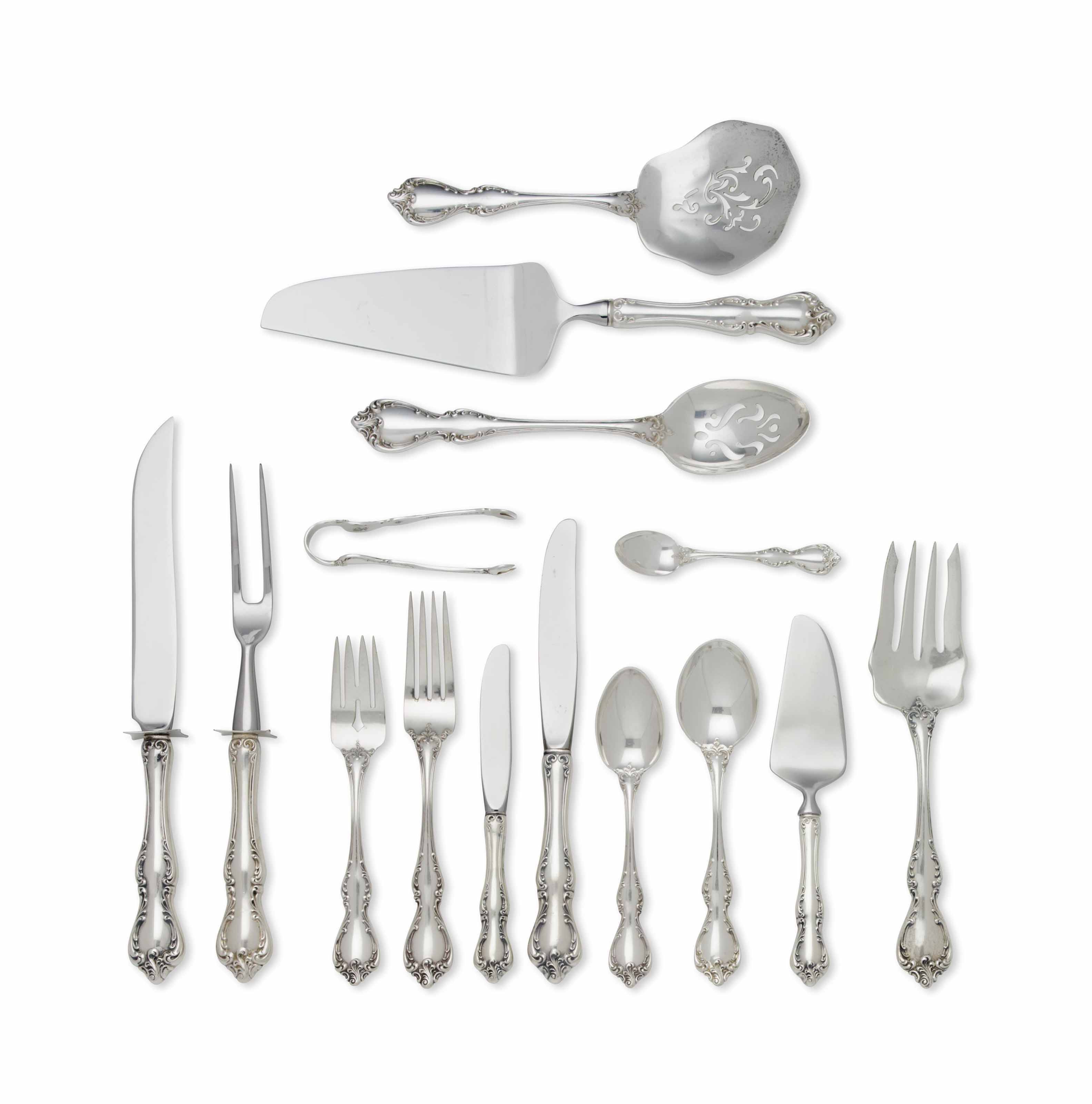AN AMERICAN SILVER FLATWARE PART SERVICE