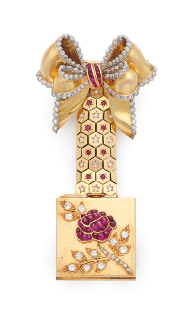 A FRENCH 18K YELLOW GOLD, PLAT