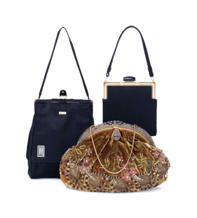A GROUP OF THREE EVENING BAGS