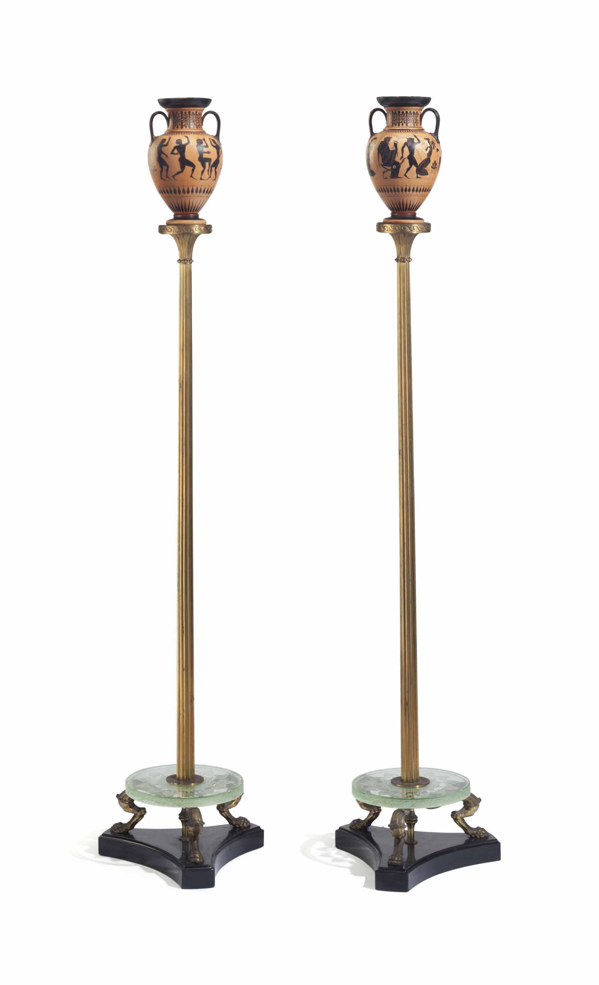 A PAIR OF AMERICAN ORMOLU, PAI