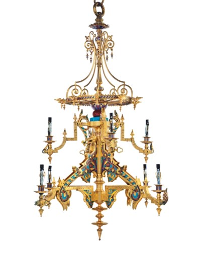A FRENCH ORMOLU AND CHAMPLEVÉ-