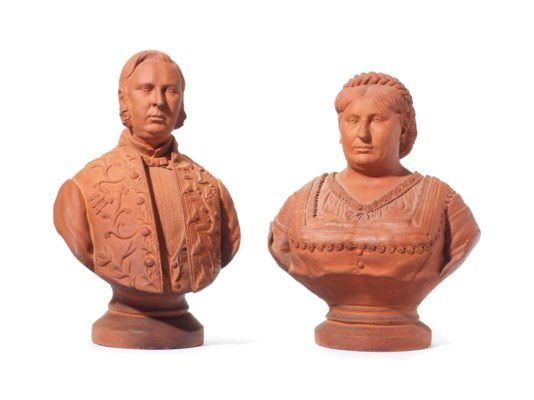 A PAIR OF FRENCH TERRACOTTA PO