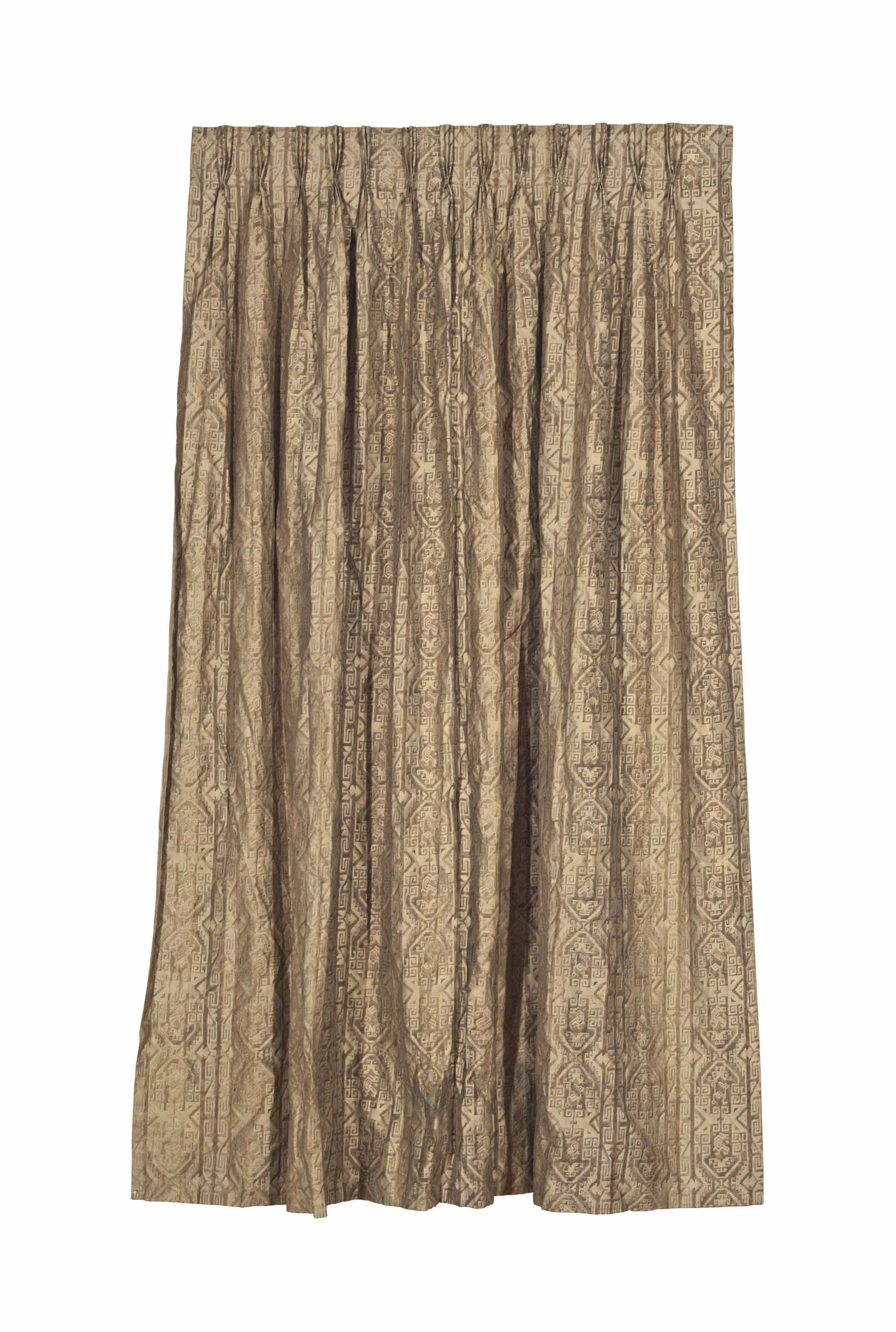 THREE FORTUNY CURTAIN PANELS