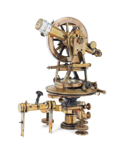 A GERMAN BRASS THEODOLITE