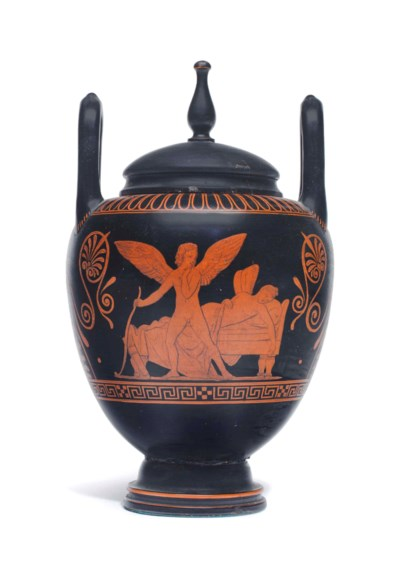 AN ITALIAN POTTERY RED-FIGURE