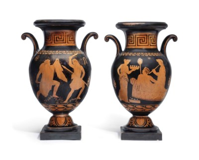 A PAIR OF ITALIAN TERRACOTTA R