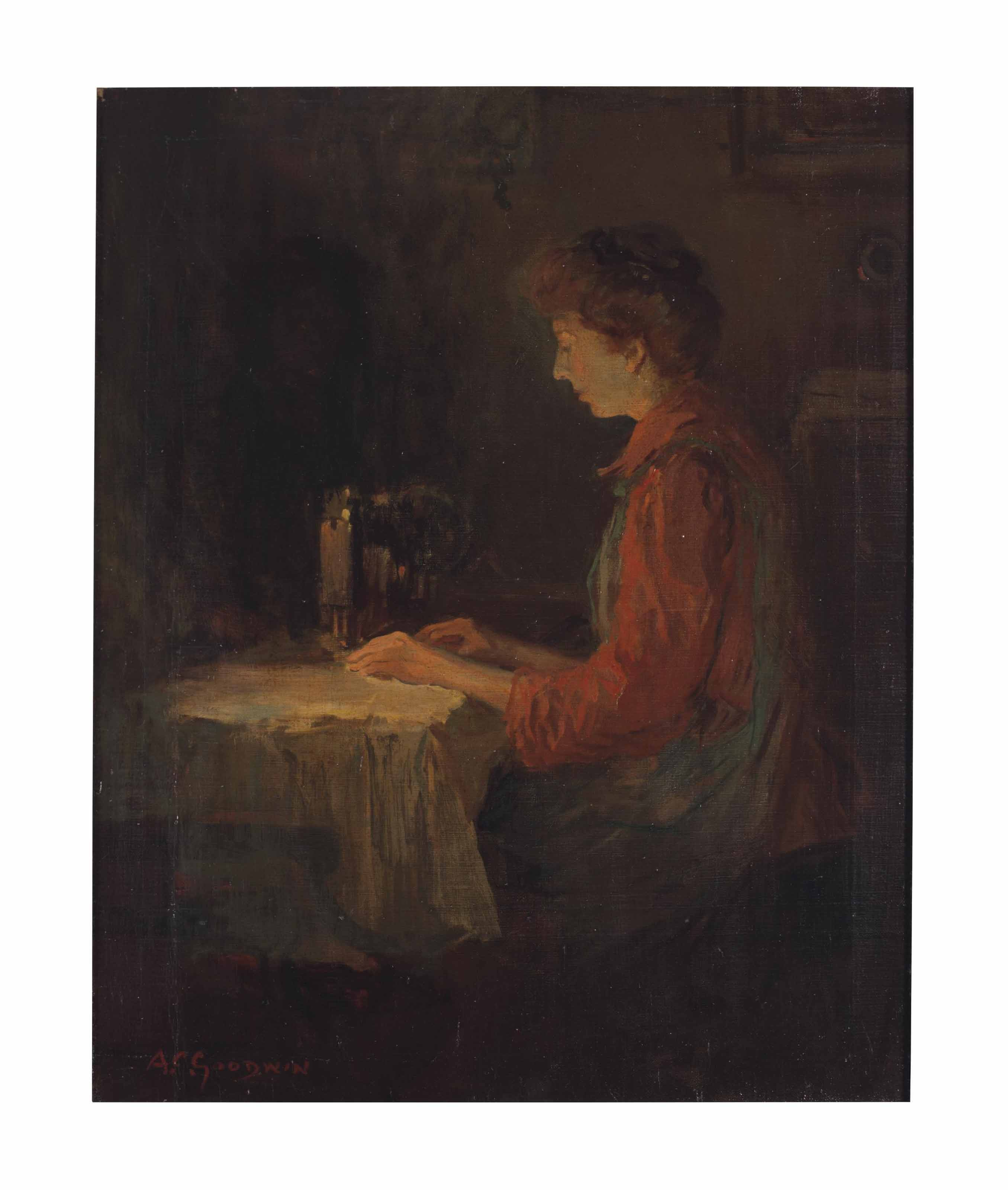 Woman Sewing
