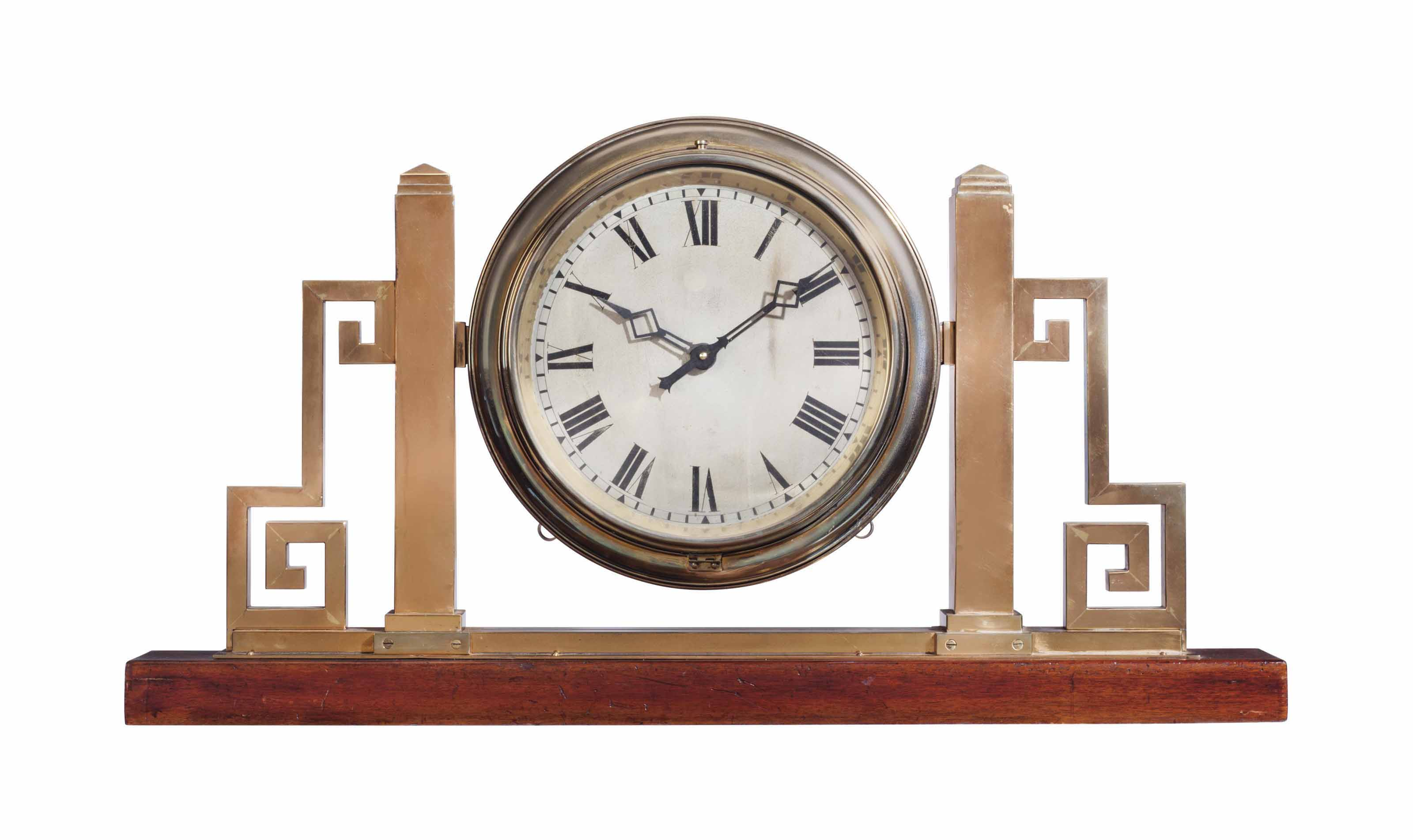 Br Cased Double Sided Railroad Clock