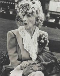 Woman with Veil, San Francisco, 1949