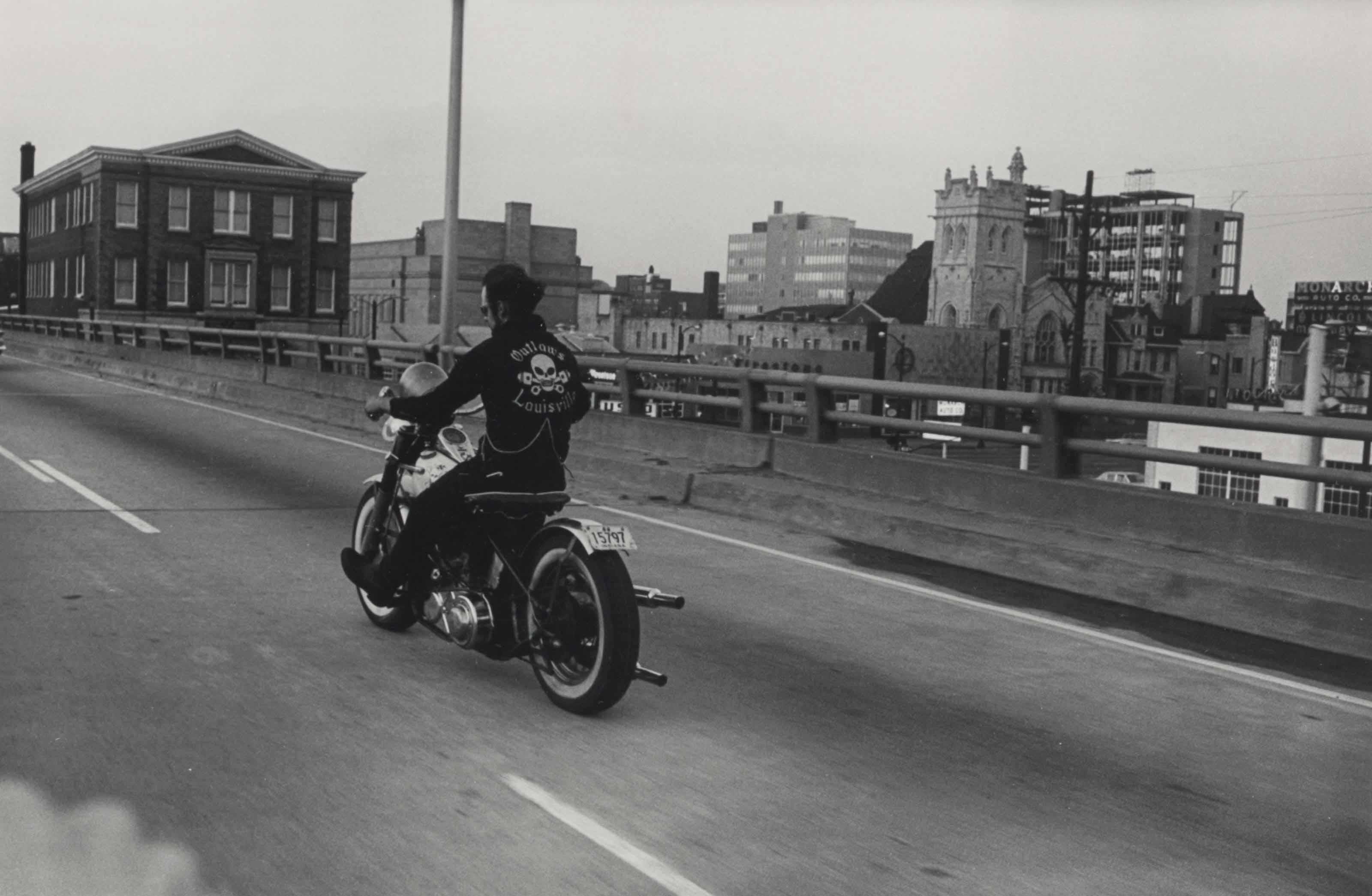 Crossing the Ohio River, Louisville, Kentucky, 1966