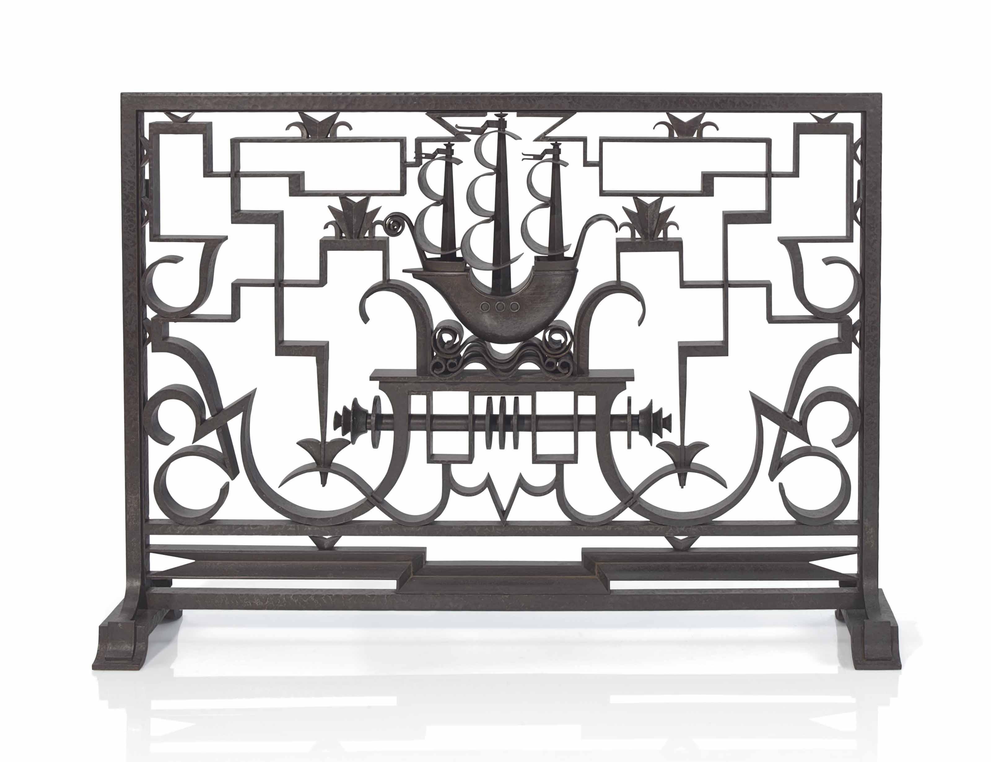 Schenck Et Fils A Firescreen Circa 1925 Screen Furniture