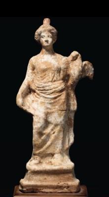 A GREEK TERRACOTTA LEDA AND TH