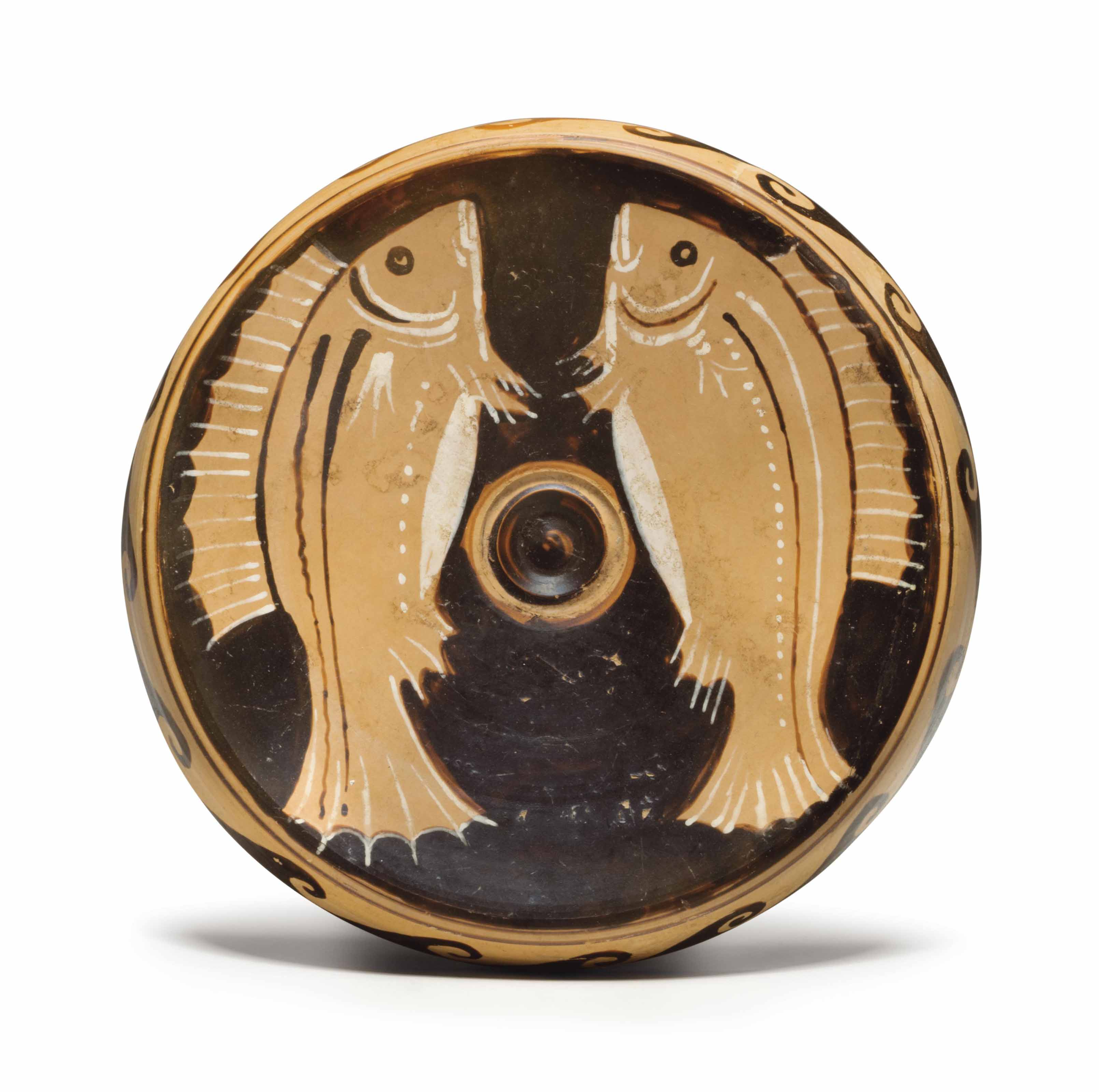 A CAMPANIAN RED-FIGURED FISH-PLATE