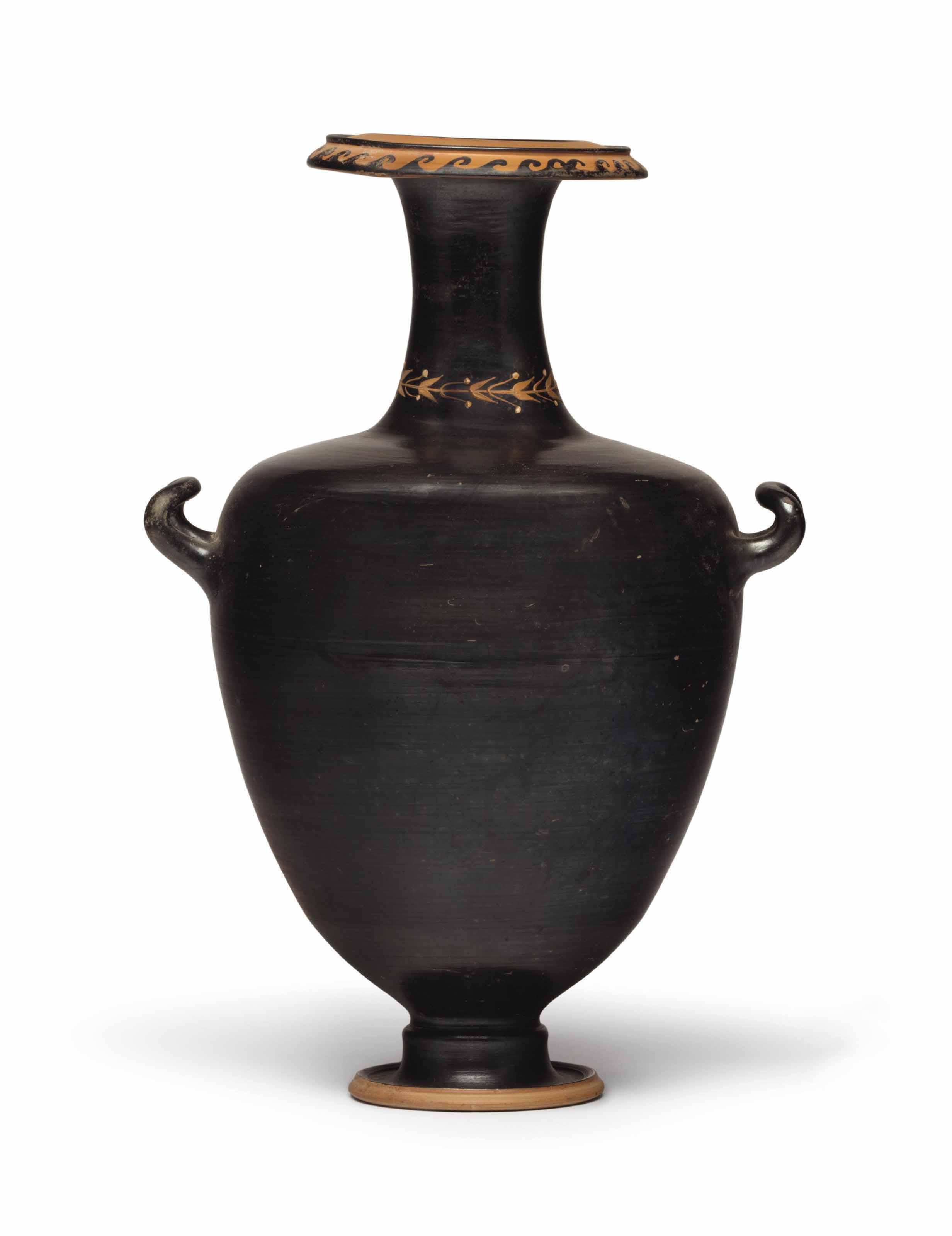 A GREEK BLACK-GLAZED HYDRIA