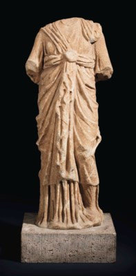 A ROMAN MARBLE ISIS