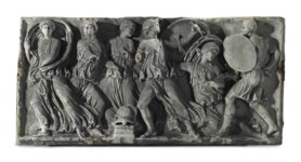 A ROMAN MARBLE PANEL FROM A SA