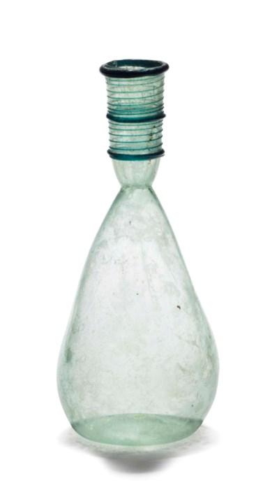 A BYZANTINE GLASS FLASK