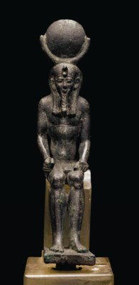 AN EGYPTIAN BRONZE IAH