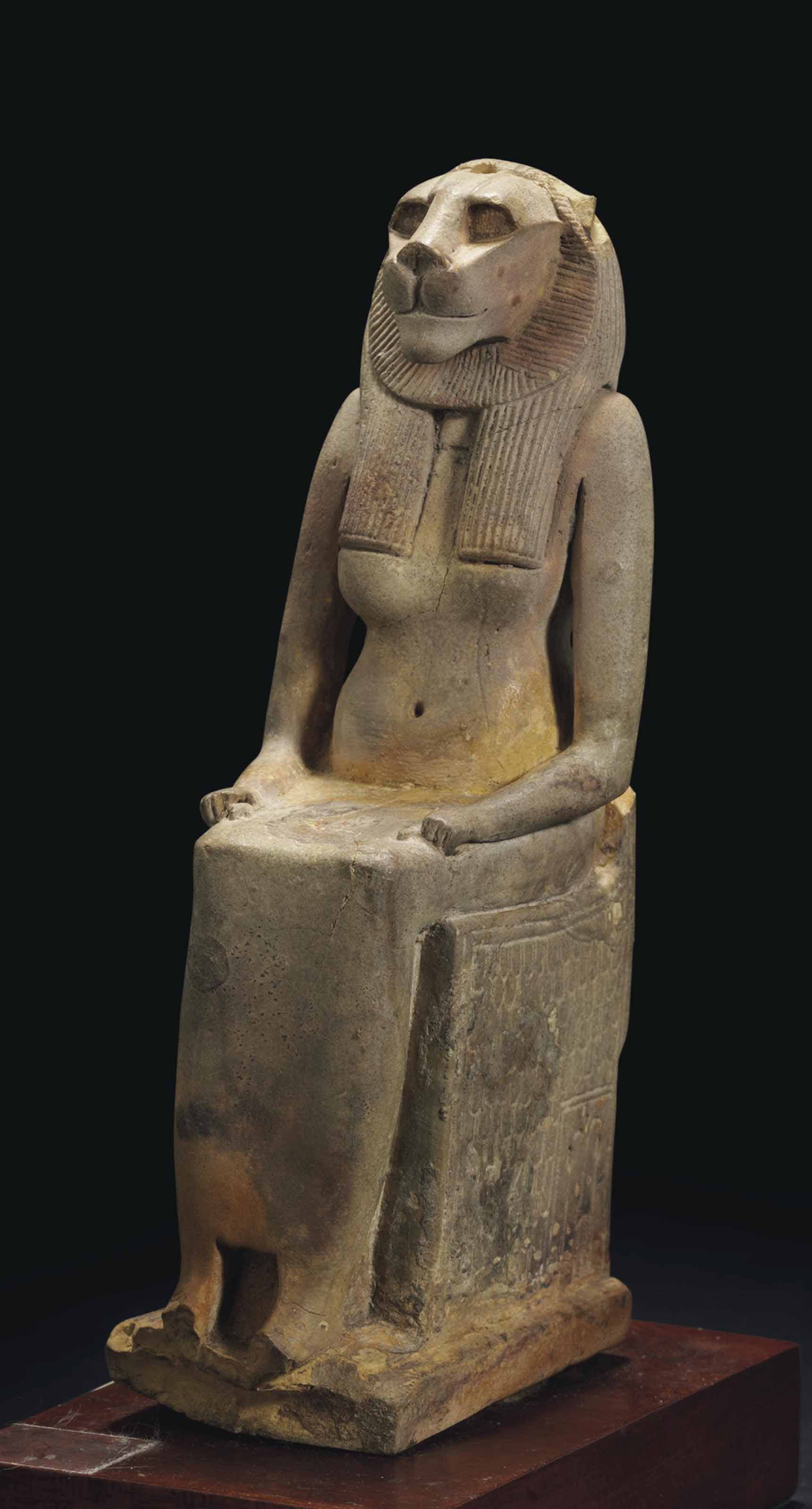 AN EGYPTIAN GLAZED STEATITE EN