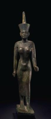 AN EGYPTIAN BRONZE NEITH