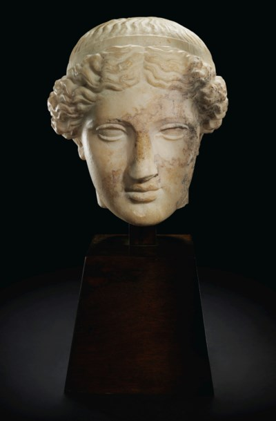 A ROMAN MARBLE HEAD OF VENUS