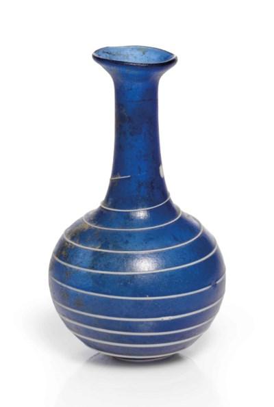 A ROMAN COBALT BLUE GLASS BOTT