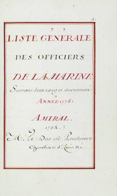 FRANCE -- MINISTÈRE DE LA MARI