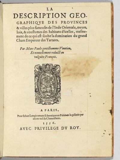 MARCO POLO (1254-1324). La Des