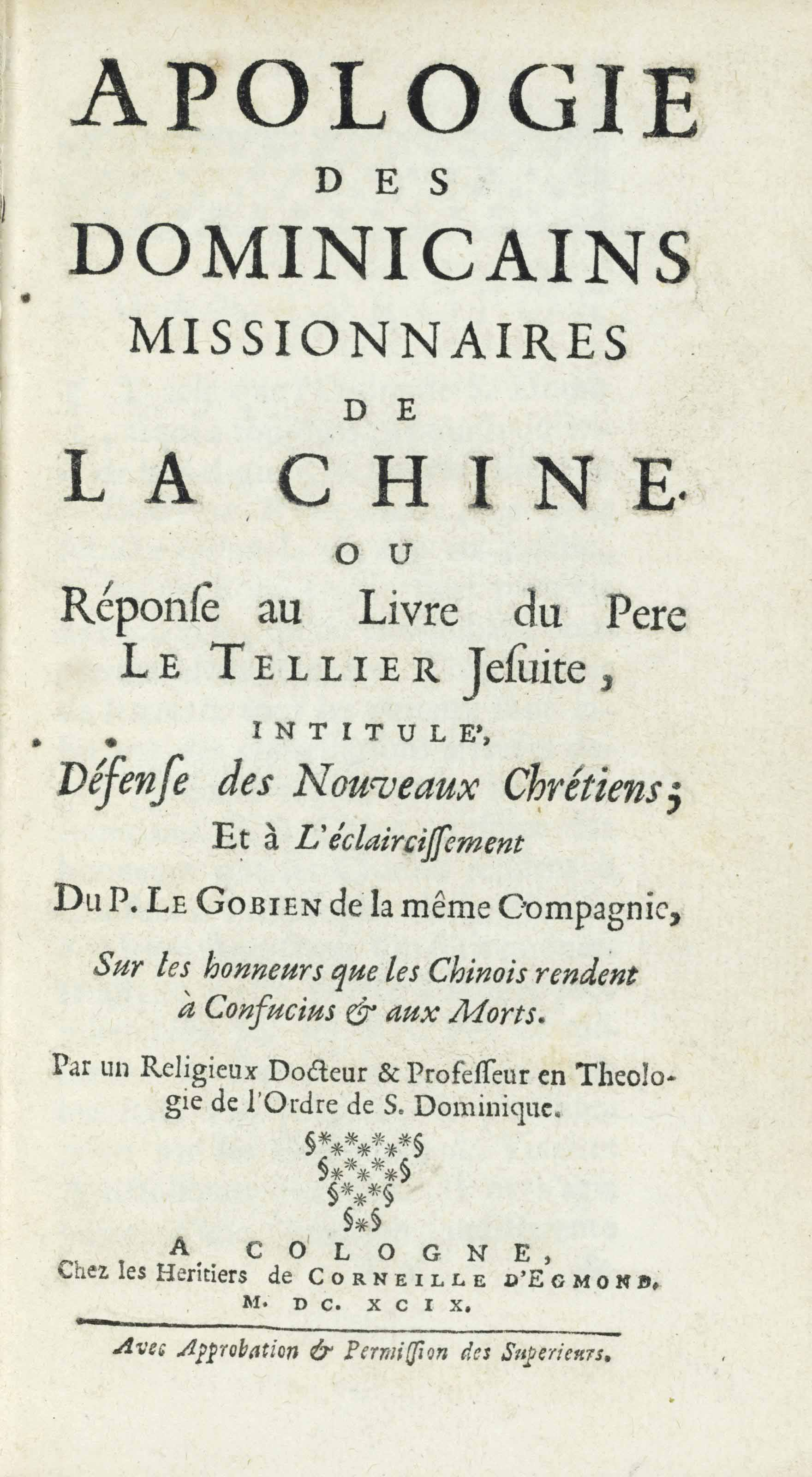 ALEXANDRE, Noel (1639-1724). A