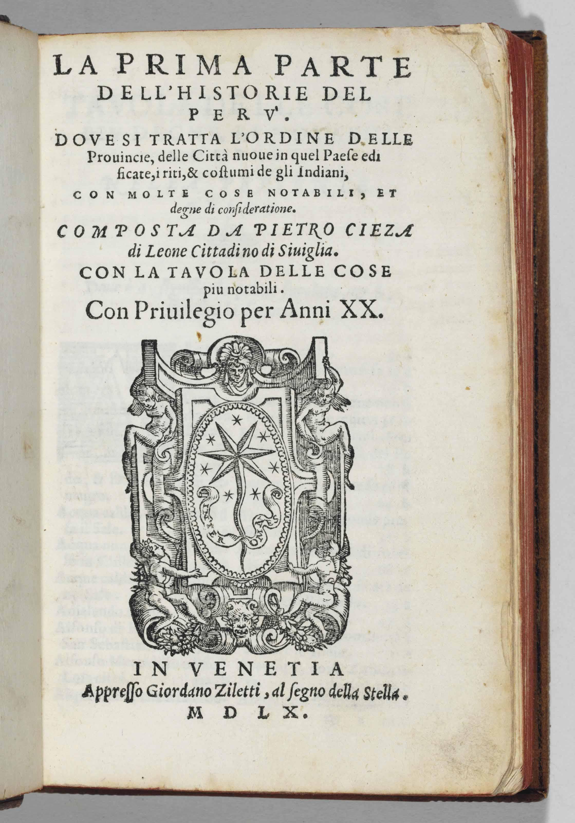 CIEZA DE LÉON, Pedro de (1518-