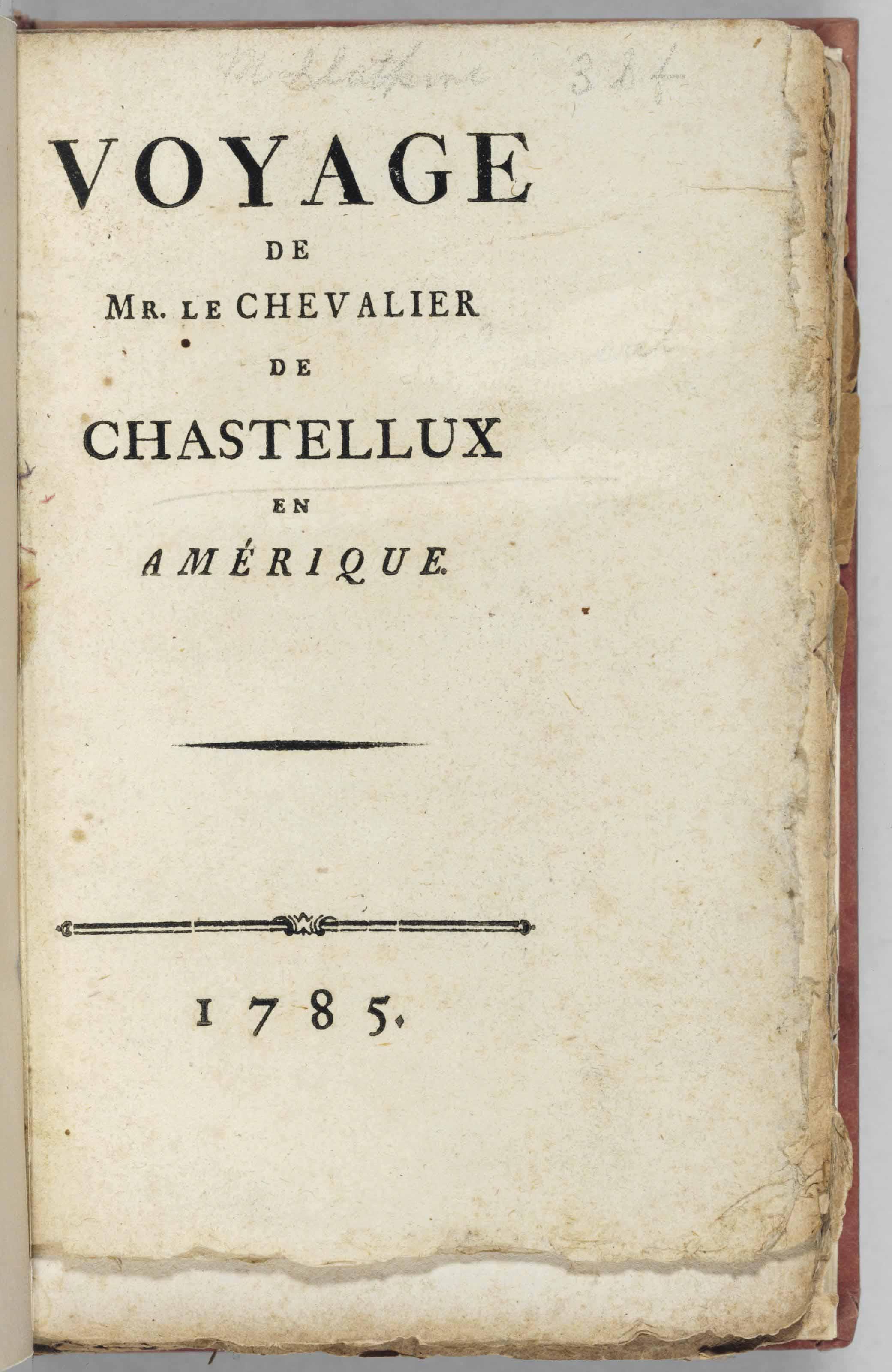 CHASTELLUX, François Jean, Mar