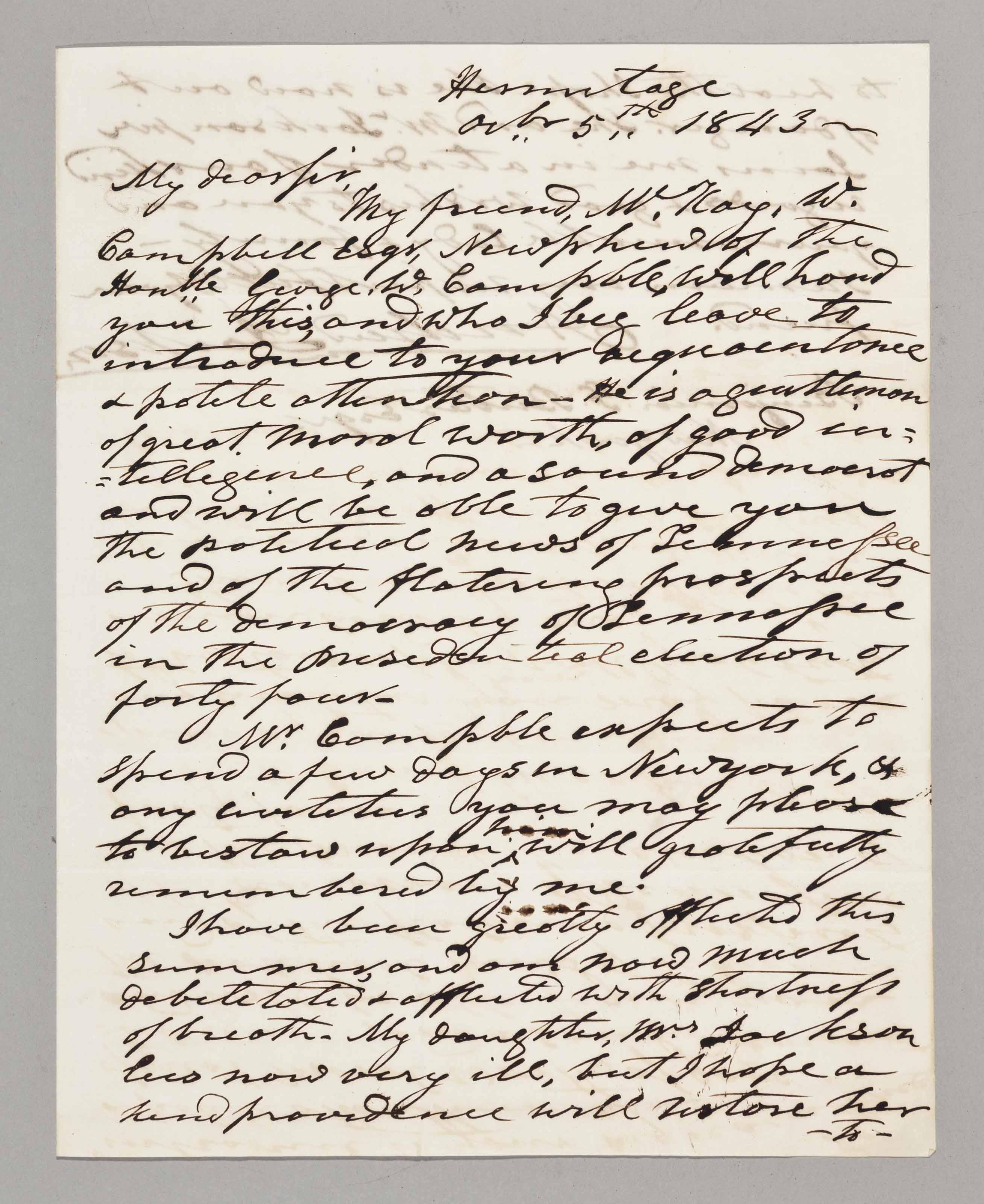 JACKSON, Andrew (1767-1845), P