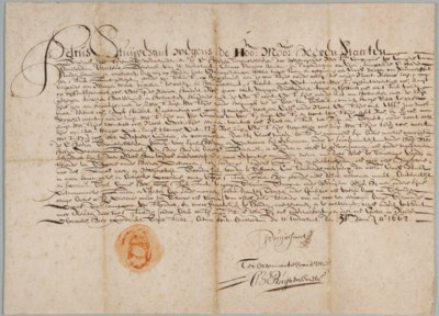 STUYVESANT, Peter (1572-1672).