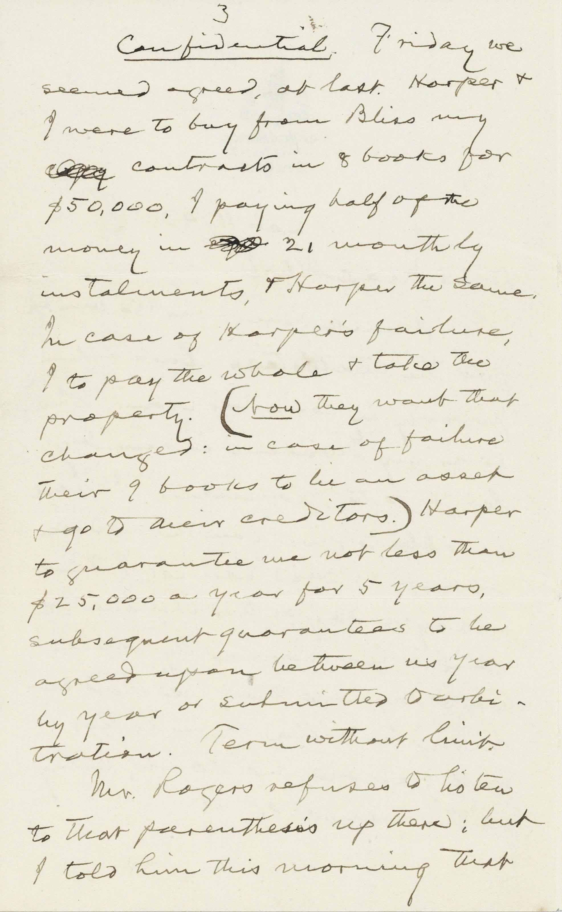 """CLEMENS, Samuel Langhorne (""""Mark Twain""""). Autograph letter signed (""""S.L. Clemens"""") to """"Mr. Mac Alister"""" (1856-1925). New York, 11 October 1903. 5 pages, 8vo, on Grosvenor stationery, envelope."""