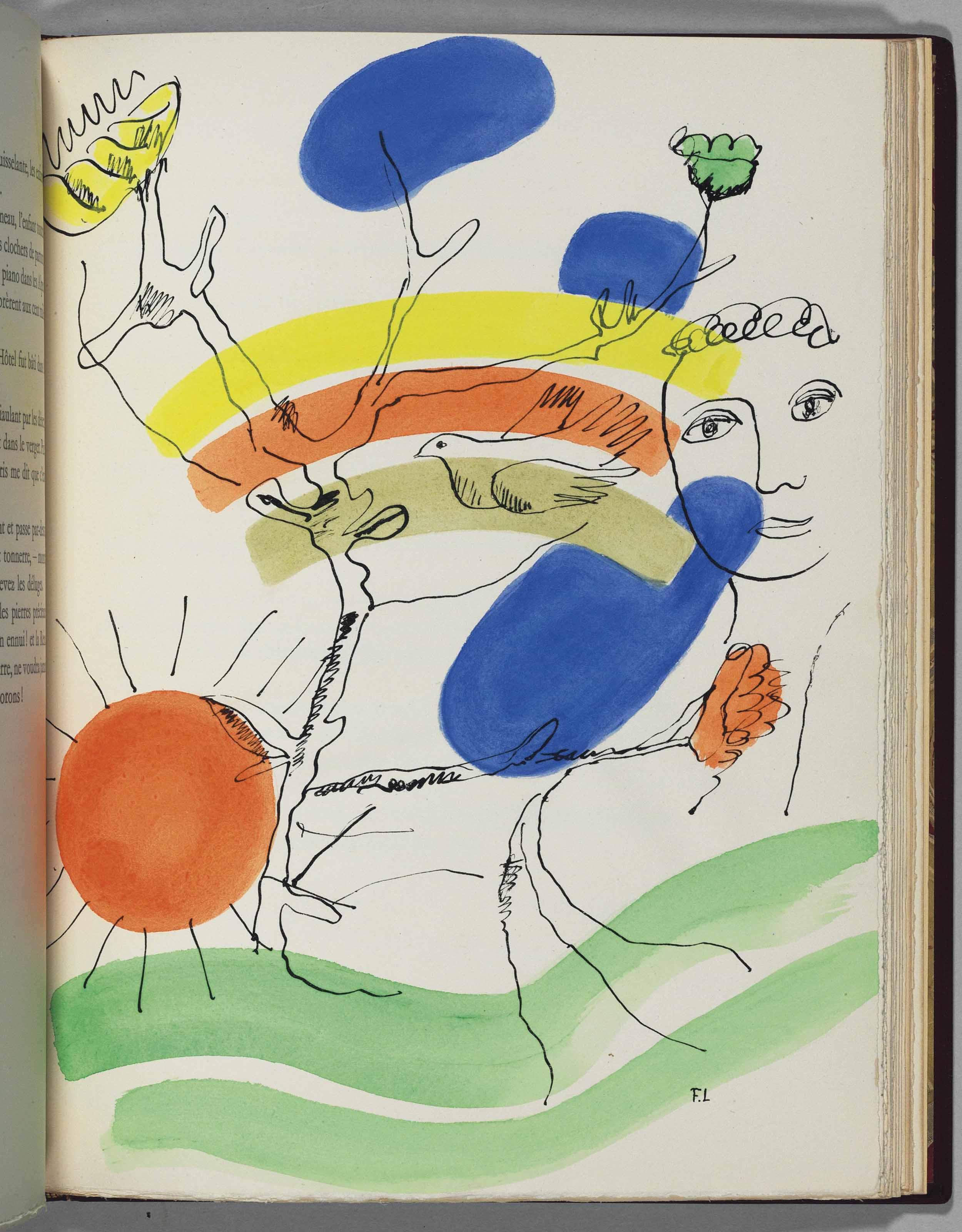LÉGER, Fernand, illustrator (1881-1955). – RIMBAUD, Arthur (1854-1891). Les Illuminations. Lausanne: Grosclaude, [1949].