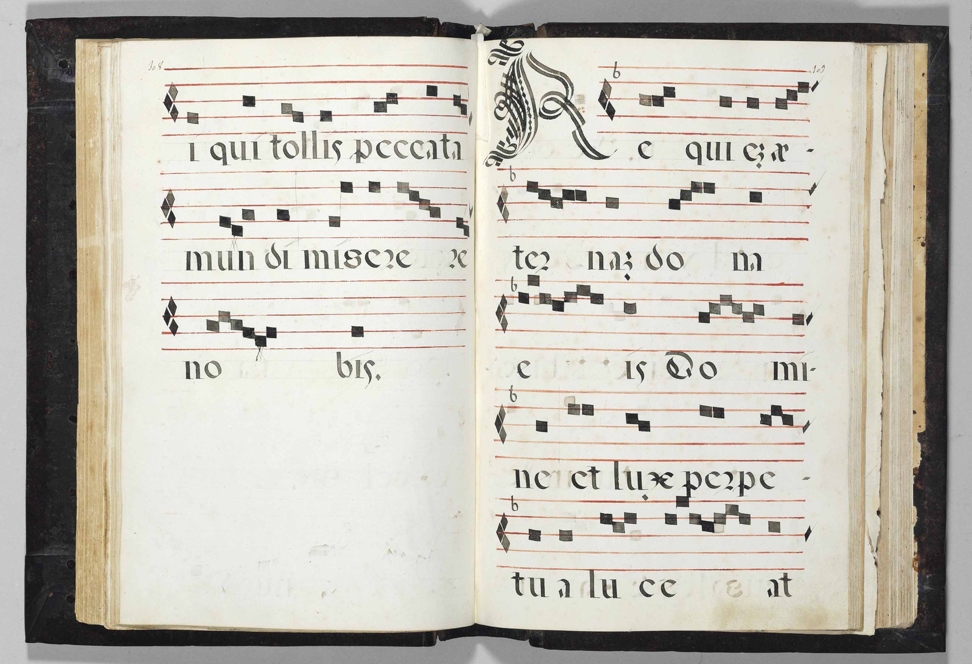 KYRIALE and HYMNAL, in Latin, DECORATED MANUSCRIPT ON PAPER