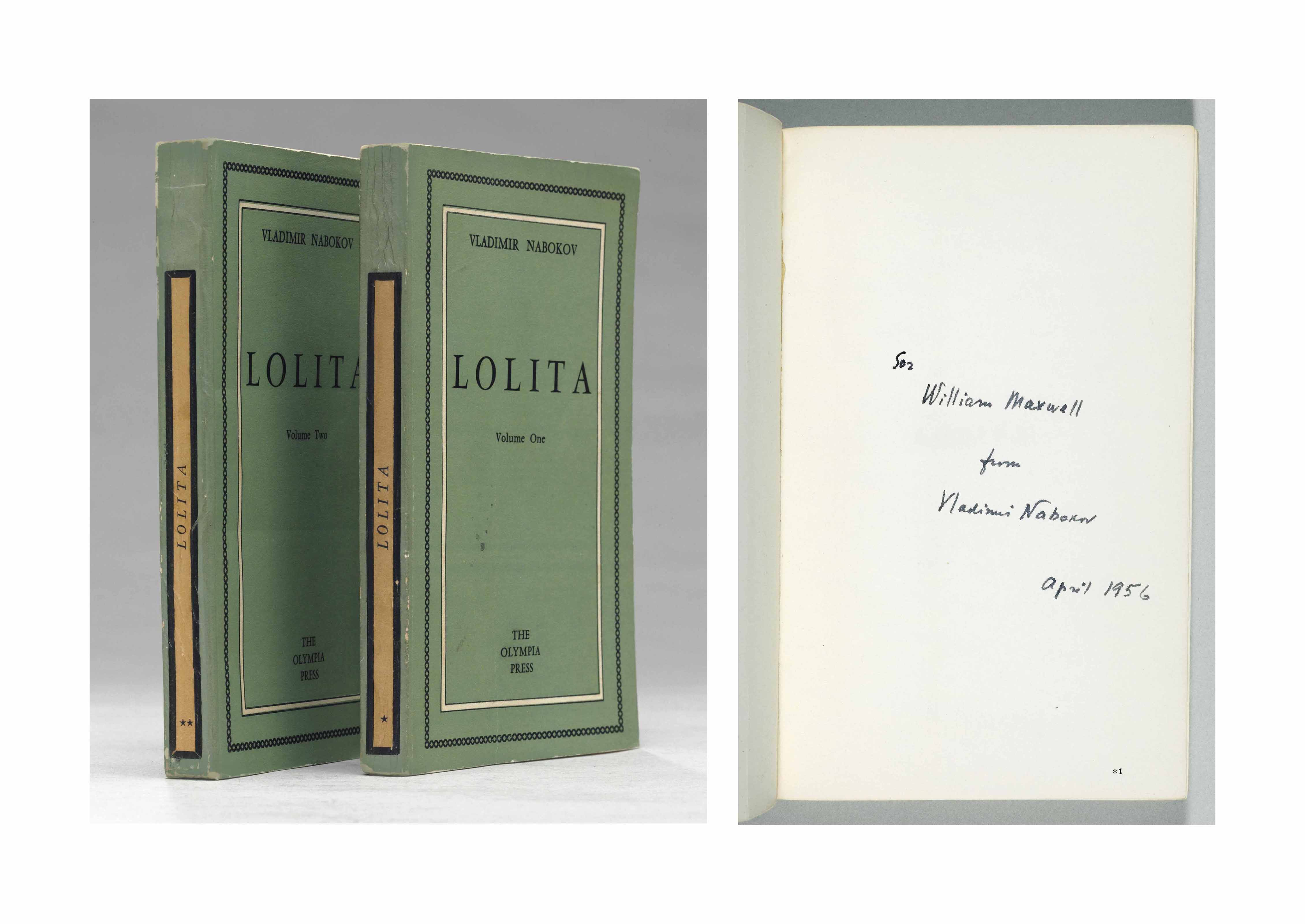 NABOKOV, Vladimir. Lolita. Paris: The Olympia Press, 1955.