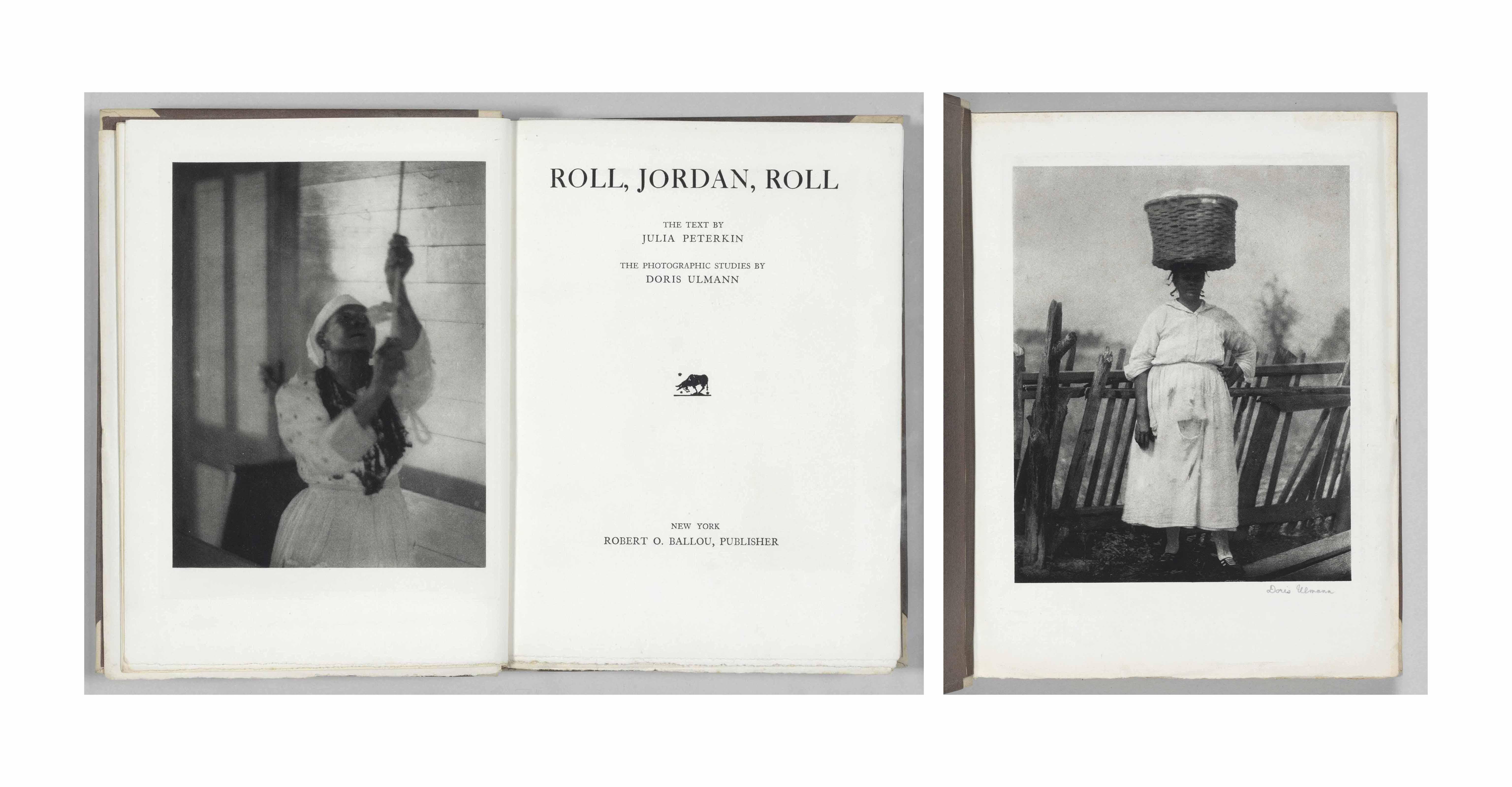 ULMANN, Doris (1882-1934). Julia PETERKIN, text (1880-1961). Roll, Jordan, Roll. New York: Robert O. Ballou, 1933.