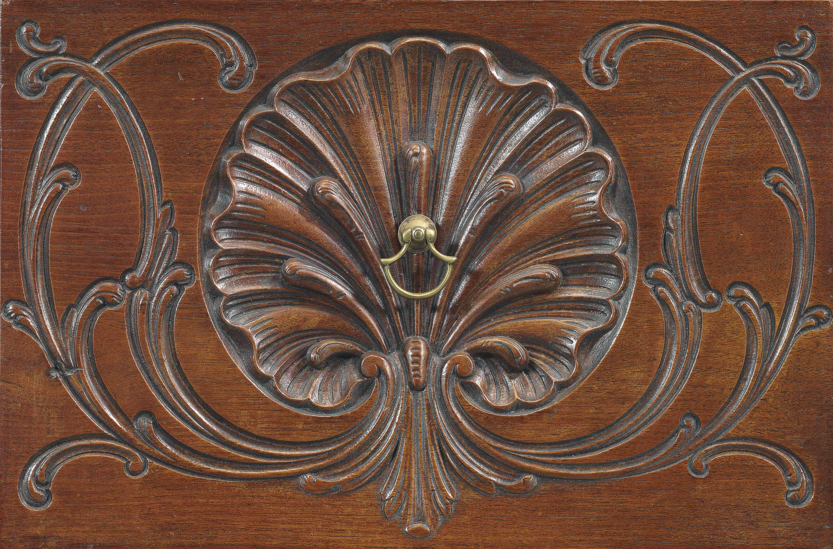 A CHIPPENDALE CARVED WALNUT CHEST-ON-CHEST
