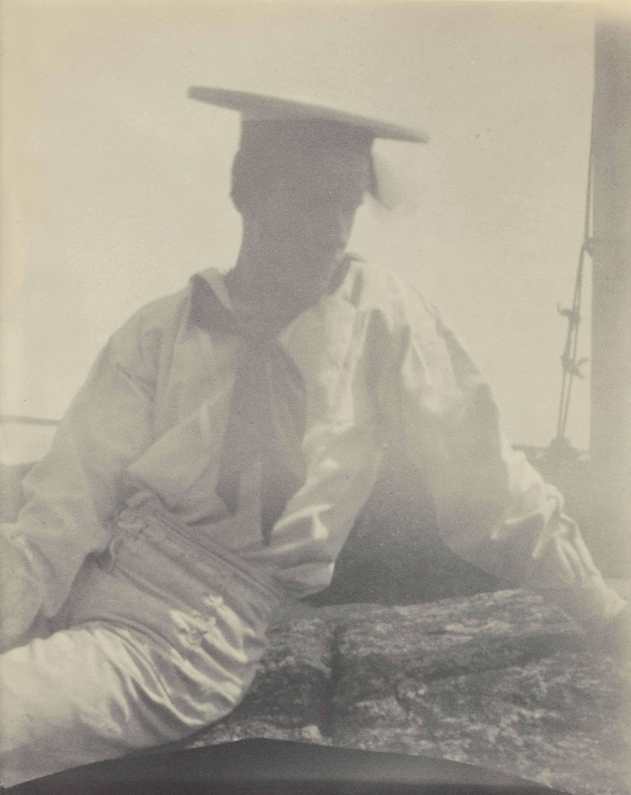Untitled (Maynard White/Sailor on Rock, Torso), c. 1910