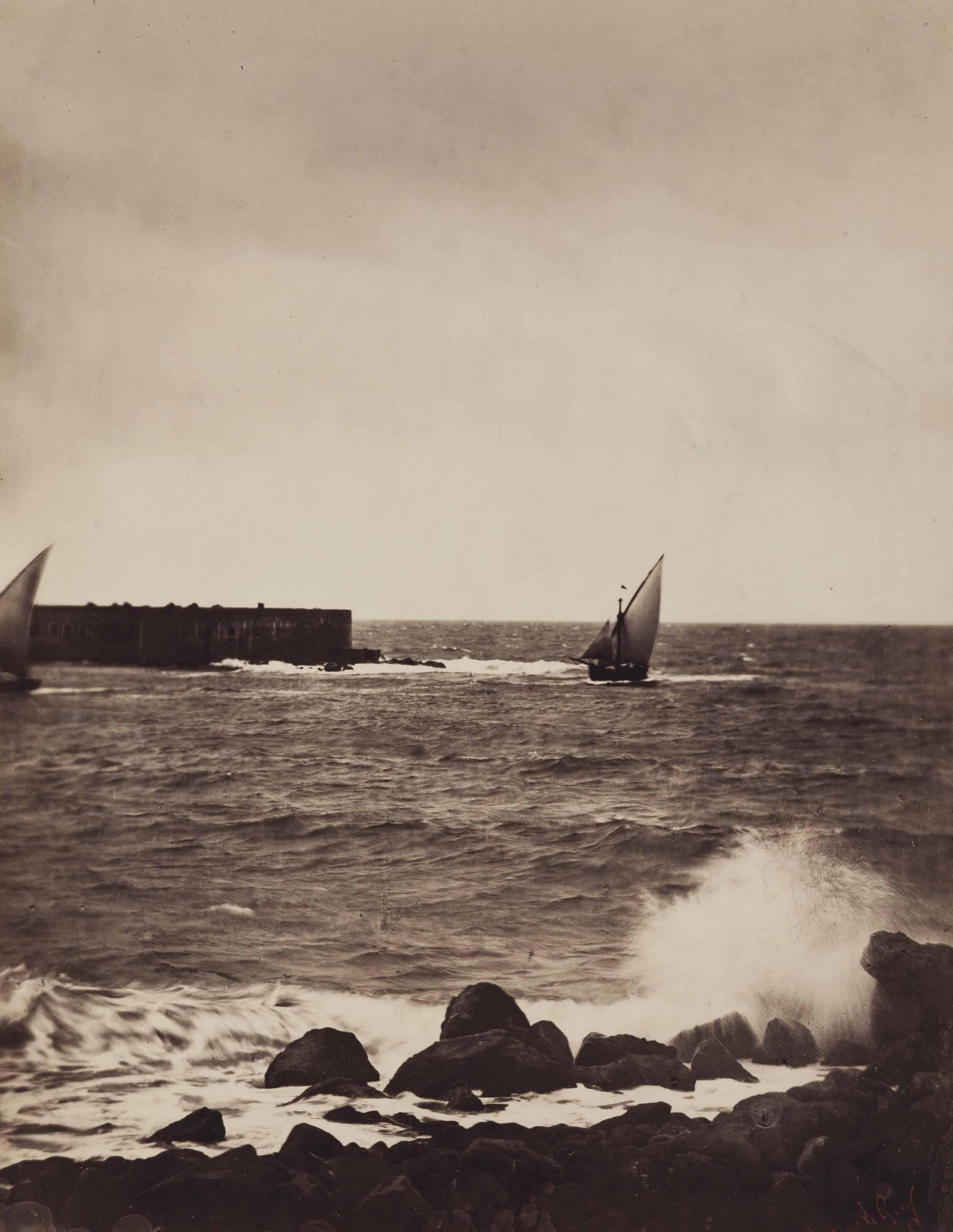 La vague brisée - Cette - Mer Méditerranée, 1857