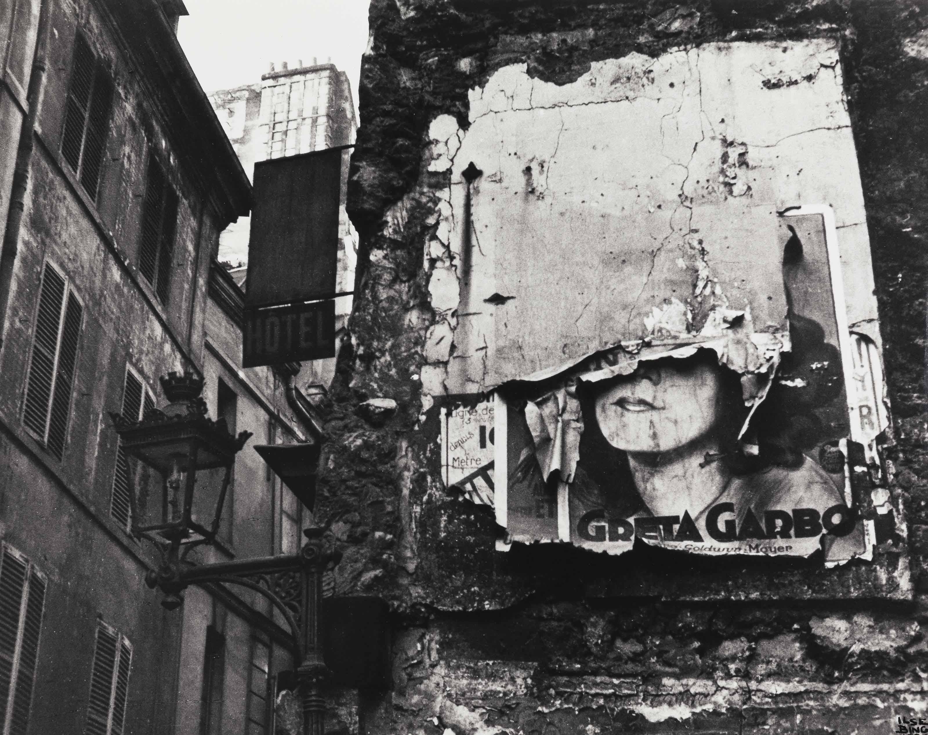 Greta Garbo poster, Paris, 1932