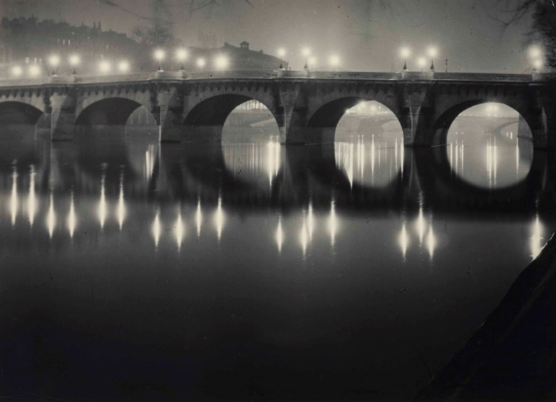 Brassaï (1899-1984), Pont Neuf, 1949. Ferrotyped gelatin silver print. Imagesheet 8 x 11 in (20.3 x 27.8 cm). Sold for $21,250 on 18 February 2016 at Christies in New York. © Estate Brassaï - RMN-Grand Palais