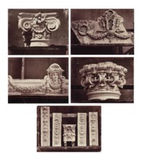Five architectural studies from 'Le Nouvel Opéra de Paris - Sculpture Ornementale', c. 1875