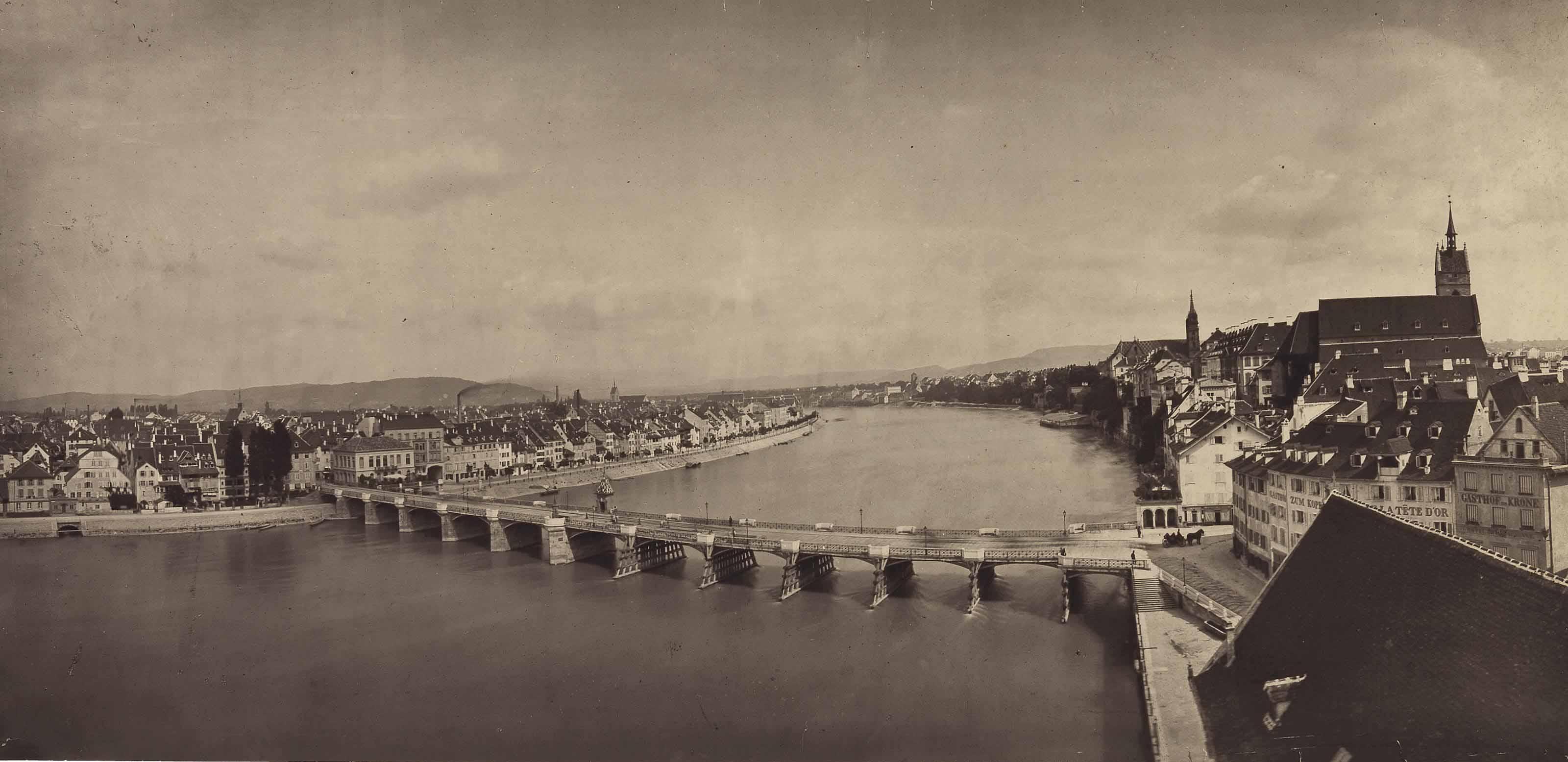 Basel, View from the Hôtel des Trois Rois, c. 1870