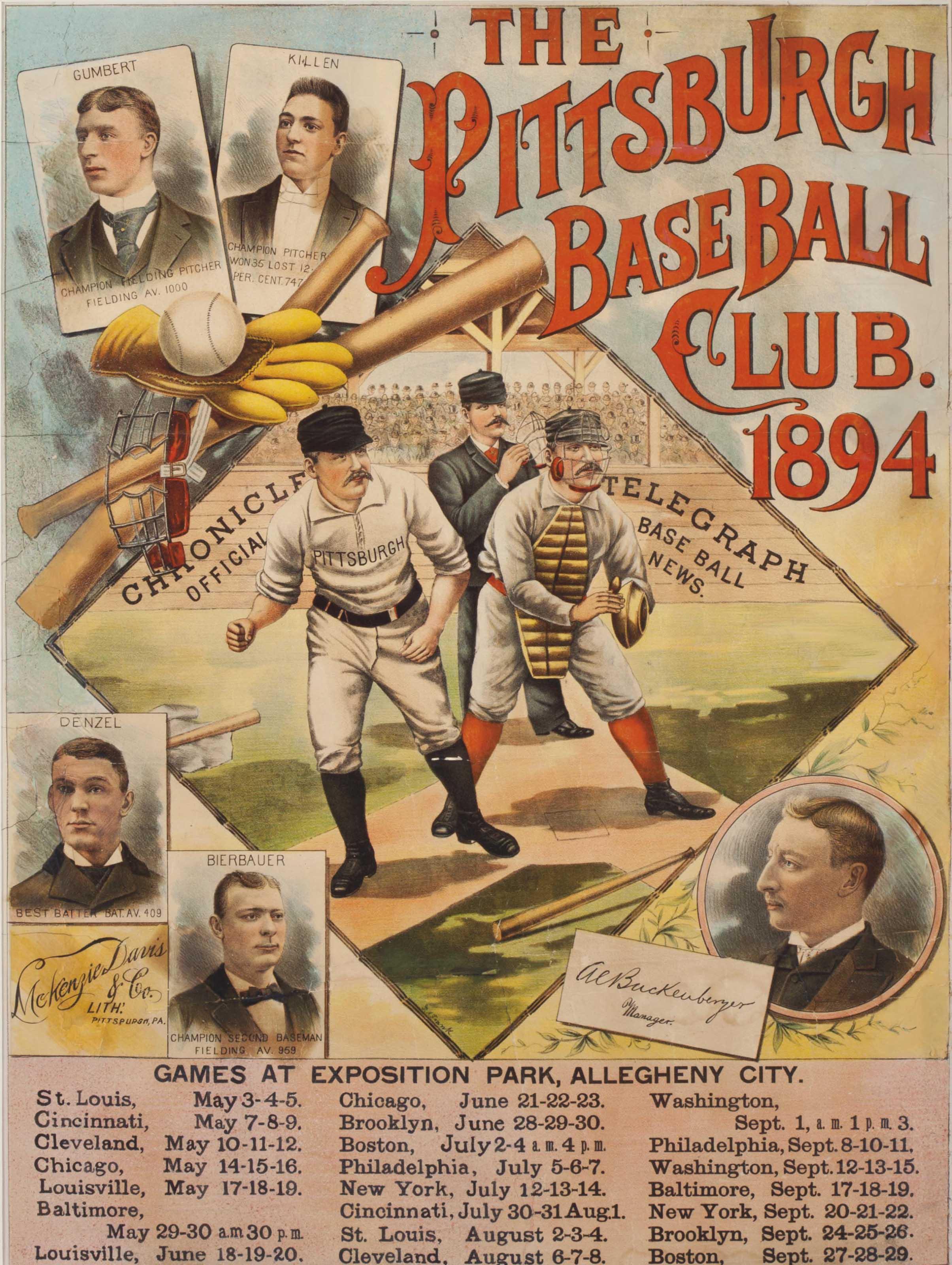 1894 PITTSBURGH BASE BALL CLUB