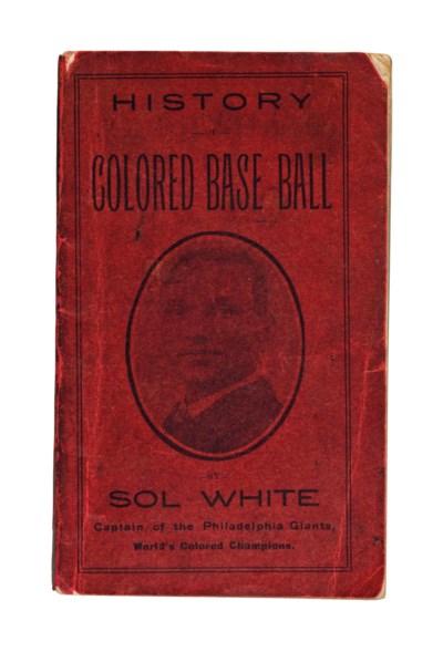 HISTORY OF COLORED BASEBALL