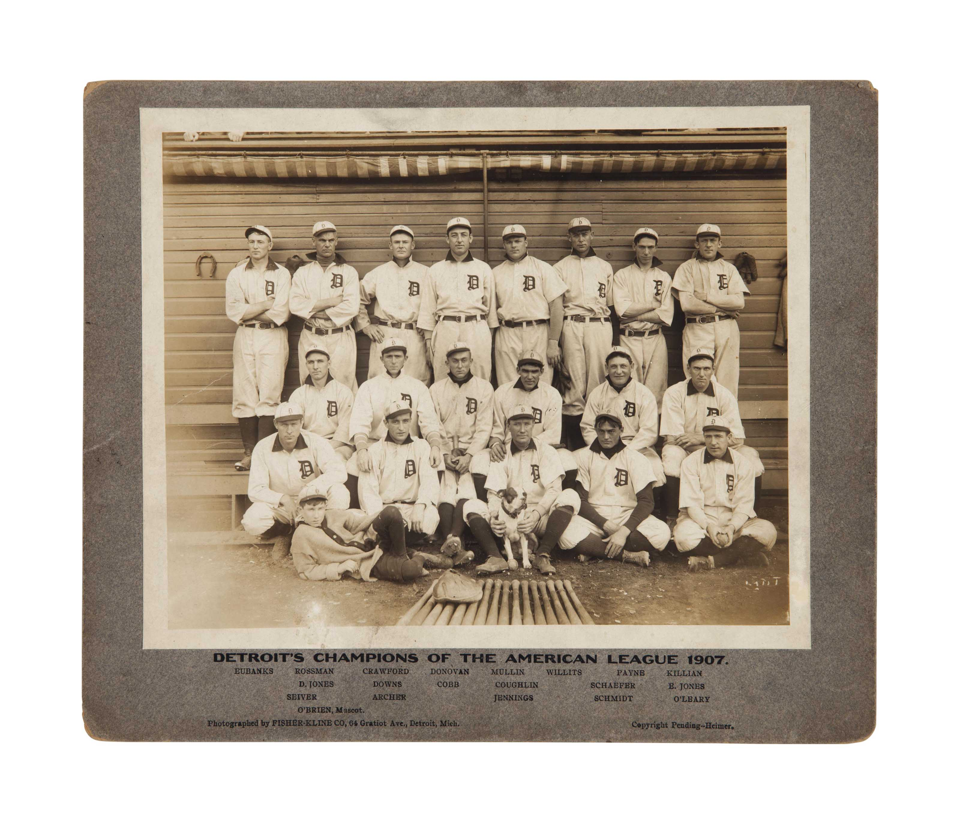 1907 DETROIT TIGERS CABINET PH