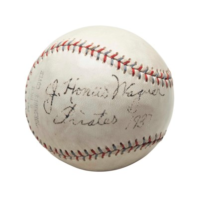 HONUS WAGNER SINGLE SIGNED BAS