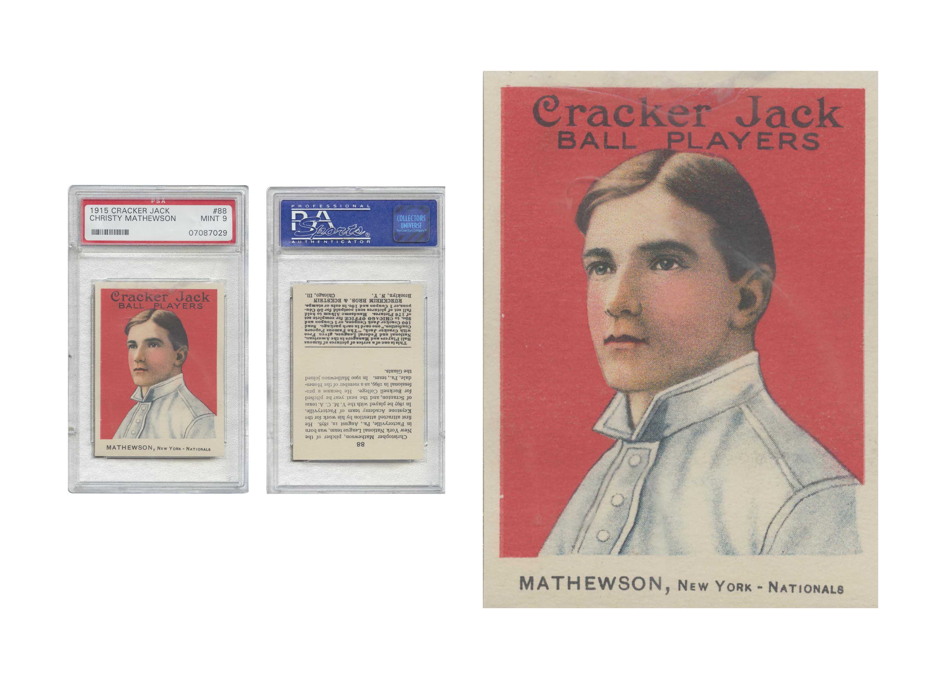 1915 CRACKER JACK #88 CHRISTY
